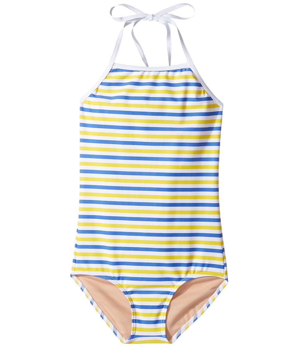 Toobydoo - Blue Yellow Stripe One-Piece (Infant/Toddler/Little Kids/Big Kids) (Blue/Yellow/White) Girl's Swimsuits One Piece