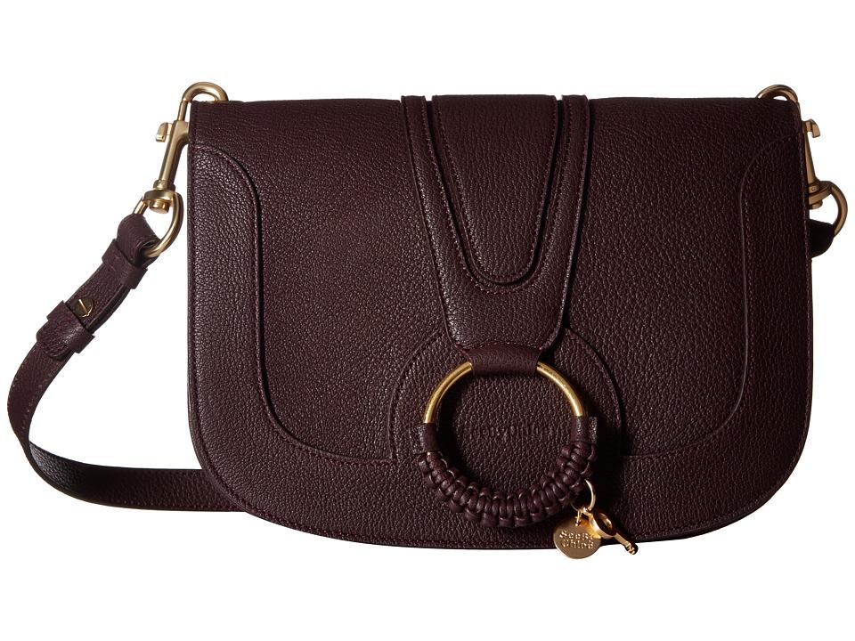 See by Chloe - Hana Medium Crossbody (Dark Plum) Handbags