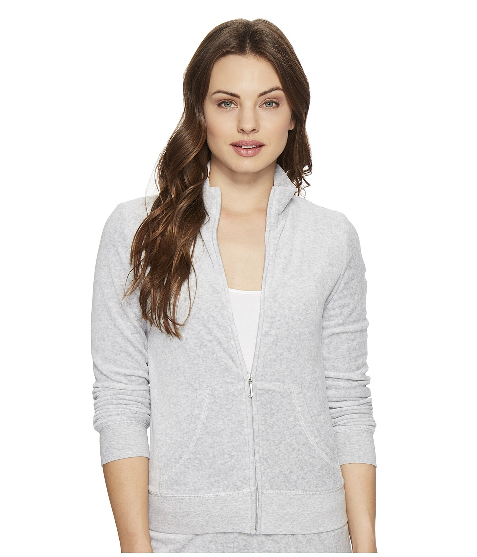 Juicy Couture - Fairfax Velour Jacket (Silver Lining) Women's Coat