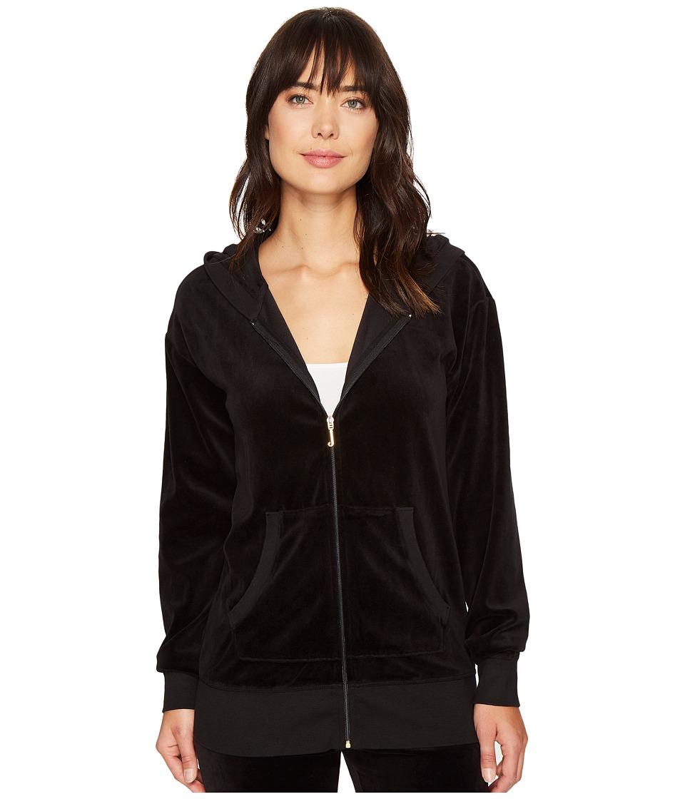 Juicy Couture - Beachwood Velour Jacket (Pitch Black) Women's Coat