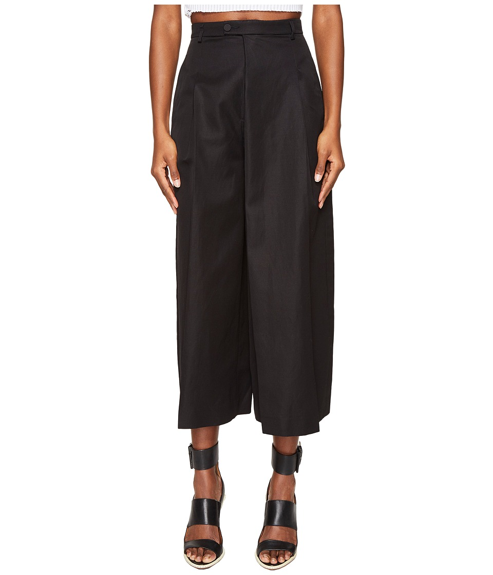 Jeremy Scott - Summer Wide-Legged Trousers (Black) Women's Casual Pants
