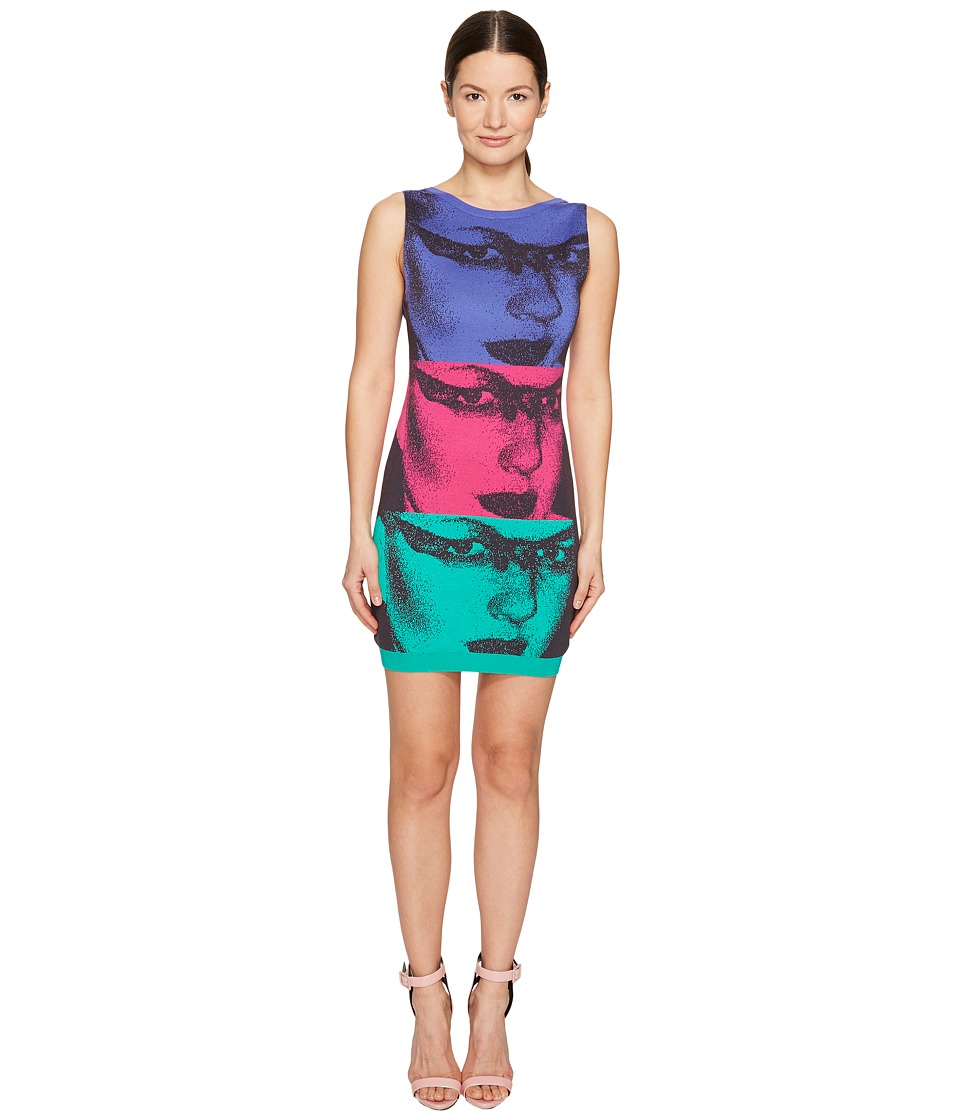 Jeremy Scott - Mod Inspired Face Dress (Multicolor Print) Women's Dress
