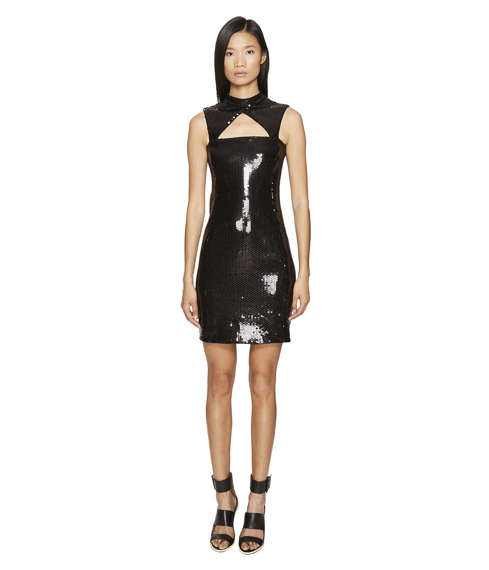 Jeremy Scott - Little Sequin Black Dress (Black) Women's Dress