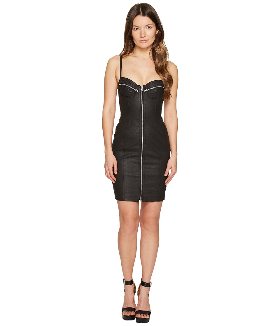 Jeremy Scott - Checkered Zip Dress (Black Checkered) Women's Dress