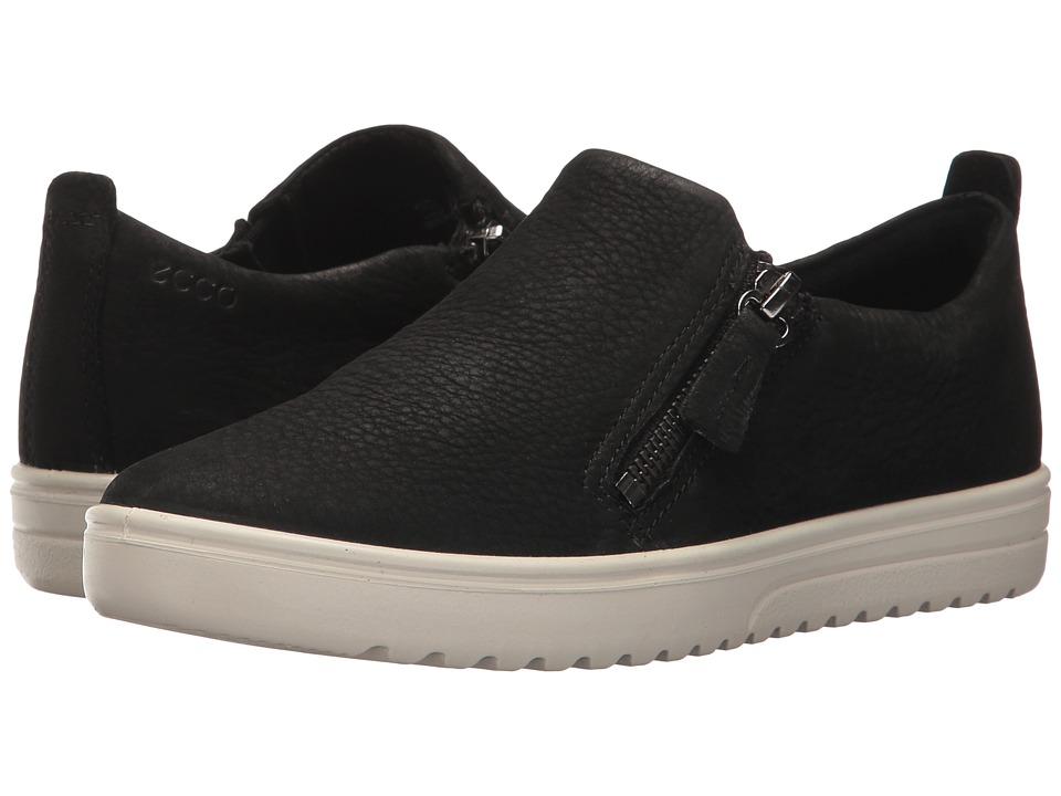 ECCO - Fara Zip (Black) Women's Shoes