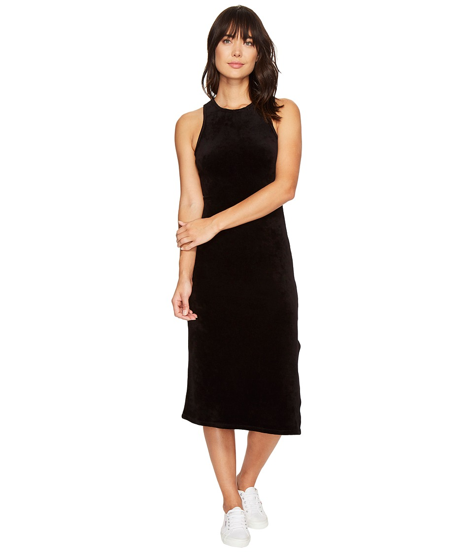 Juicy Couture - Stretch Velour Fitted Tank Dress (Pitch Black) Women's Dress