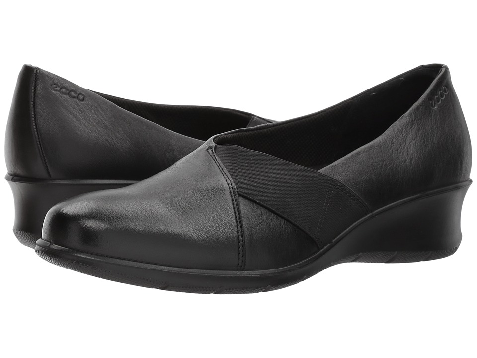 ECCO - Felicia Stretch Ballerina (Black) Women's Flat Shoes