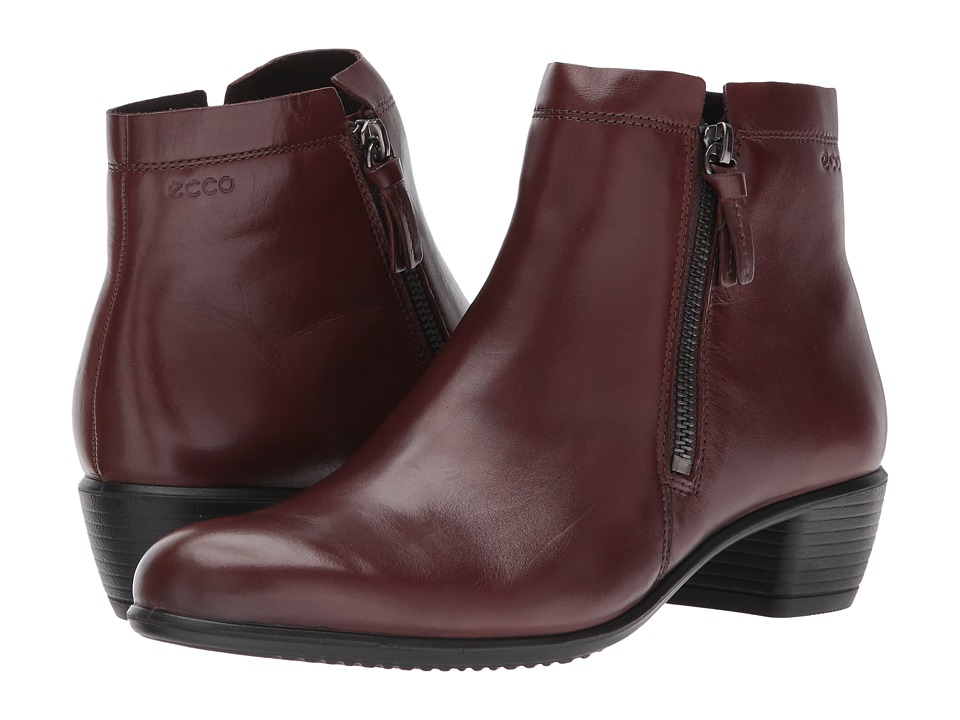 ECCO - Touch 35 Zip Bootie (Mink) Women's Boots