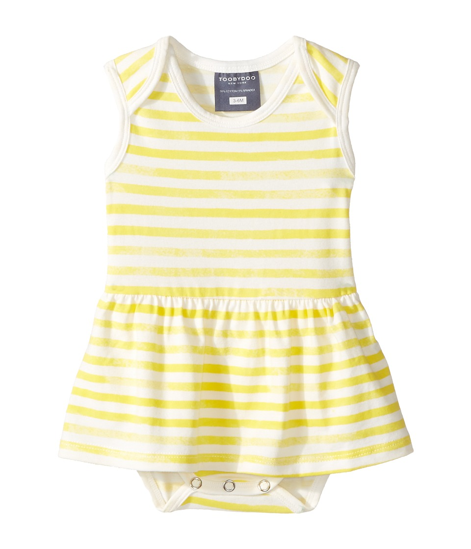 Toobydoo - Yellow Watercolor Stripe Ballerina Suit (Infant) (Yellow/White) Girl's Jumpsuit & Rompers One Piece