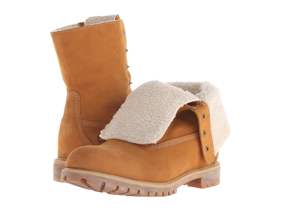 Timberland - Roll Top Warm Lined Boot (Wheat Nubuck) Men's Boots