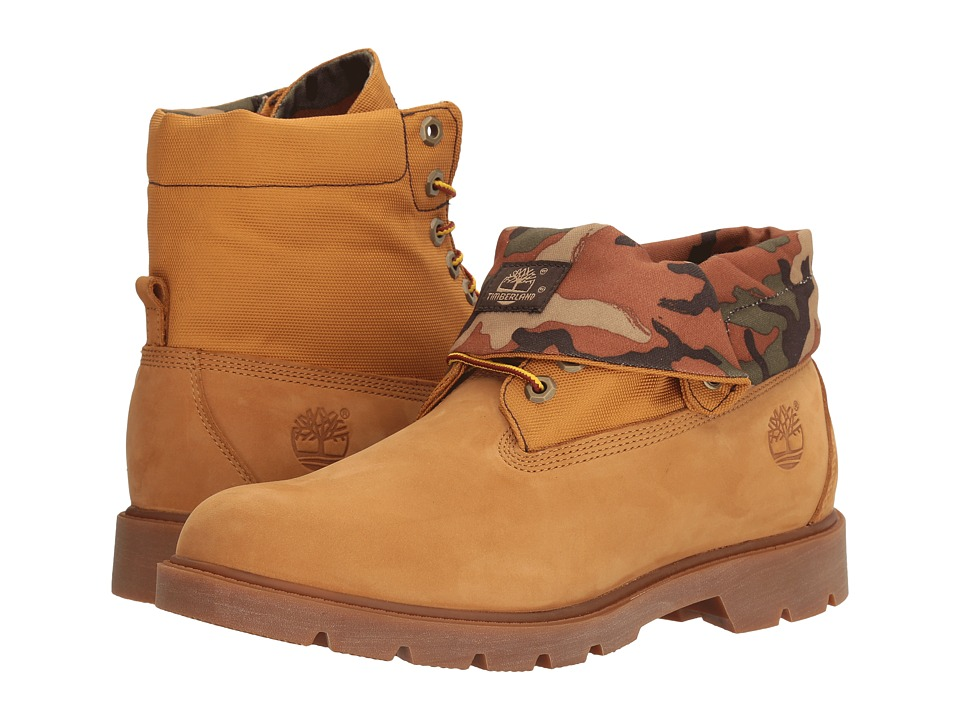 Timberland - Basic Roll Top (Wheat/Camo) Men's Shoes