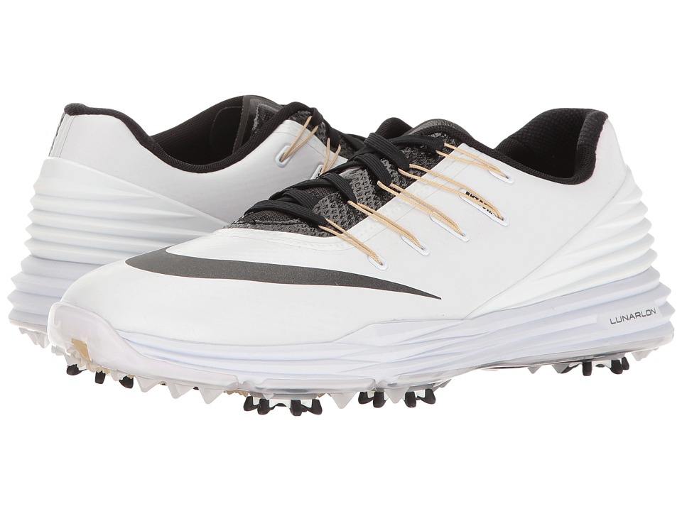 Nike - Lunar Control 4 College (White/Black/Metallic Gold Coin/Team Gold) Women's Golf Shoes