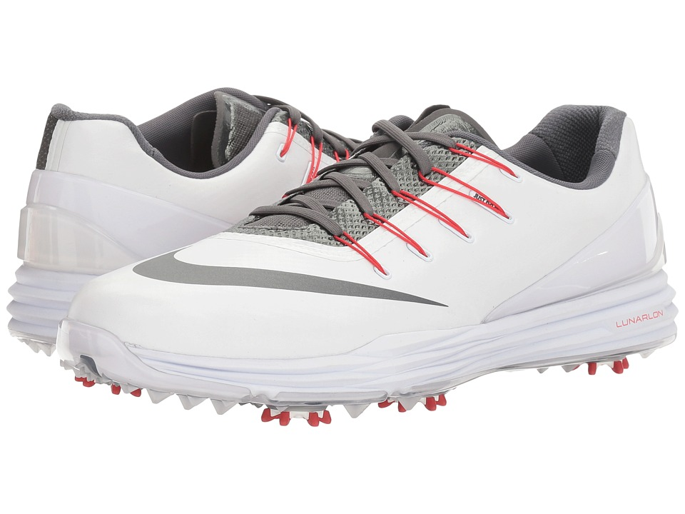Nike Golf - Lunar Control 4 College (White/Dark Grey/University Red) Men's Golf Shoes