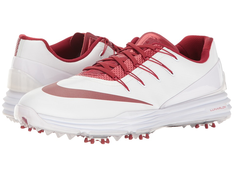 Nike Golf - Lunar Control 4 College (White/Team Crimson) Men's Golf Shoes