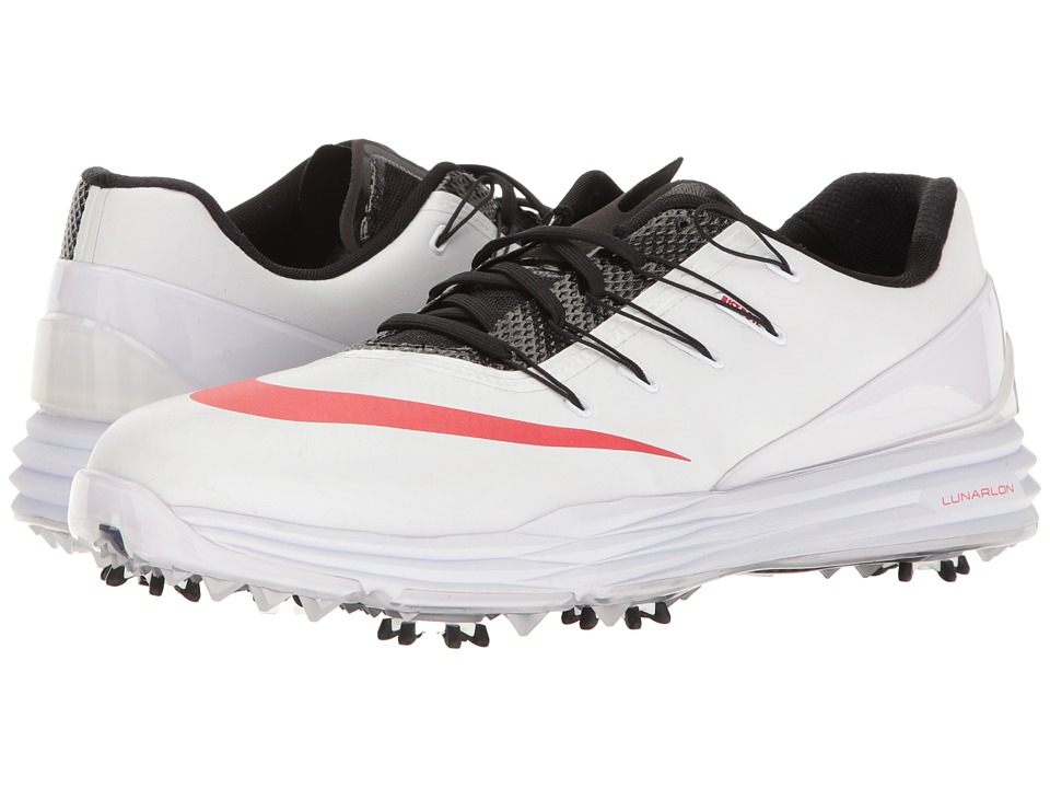 Nike Golf - Lunar Control 4 College (White/University Red/Black/Dark Grey) Men's Golf Shoes