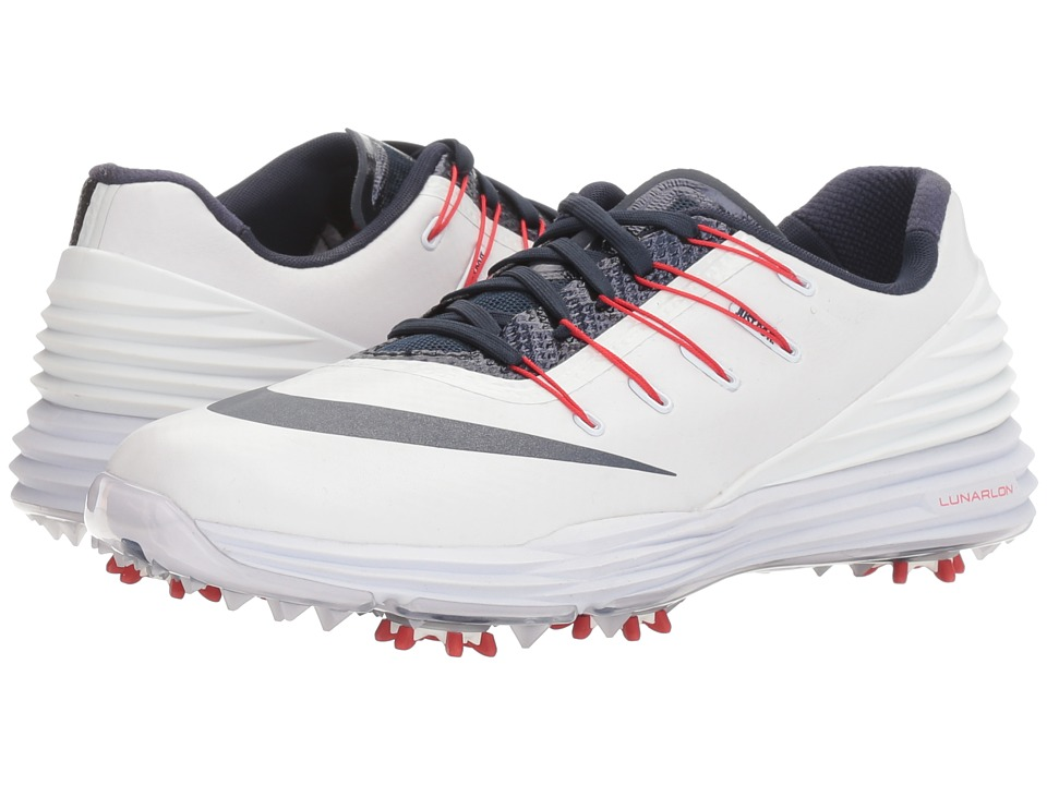 Nike Golf - Lunar Control 4 College (White/College Navy/University Red) Women's Golf Shoes