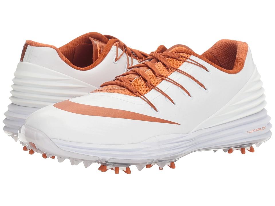 Nike Golf - Lunar Control 4 College (White/Desert Orange) Women's Golf Shoes