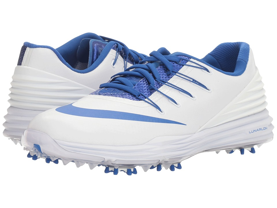 Nike - Lunar Control 4 College (White/Game Royal) Women's Golf Shoes