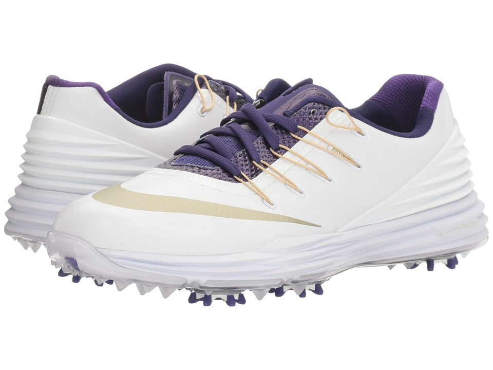 Nike Golf - Lunar Control 4 College (White/Metallic Gold Coin/New Orchid) Women's Golf Shoes