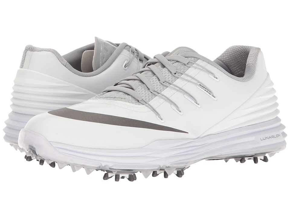 Nike Golf - Lunar Control 4 College (White/Metallic Dark Grey/Wolf Grey/Black) Women's Golf Shoes