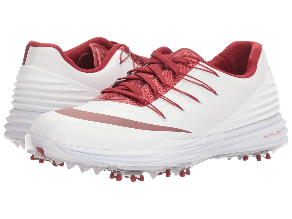 Nike - Lunar Control 4 College (White/Team Crimson) Women's Golf Shoes