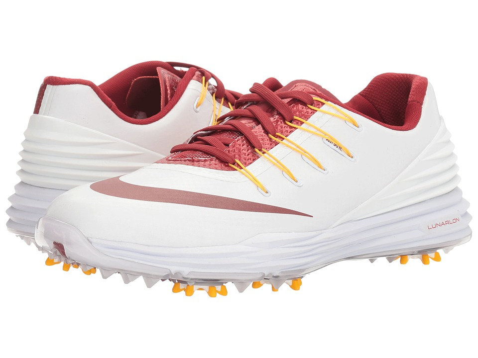 Nike Golf - Lunar Control 4 College (White/Team Crimson/University Gold) Women's Golf Shoes