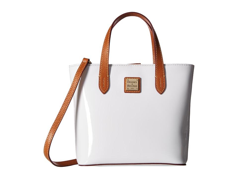 Dooney & Bourke - Mini Waverly (White/Nat Trim) Handbags
