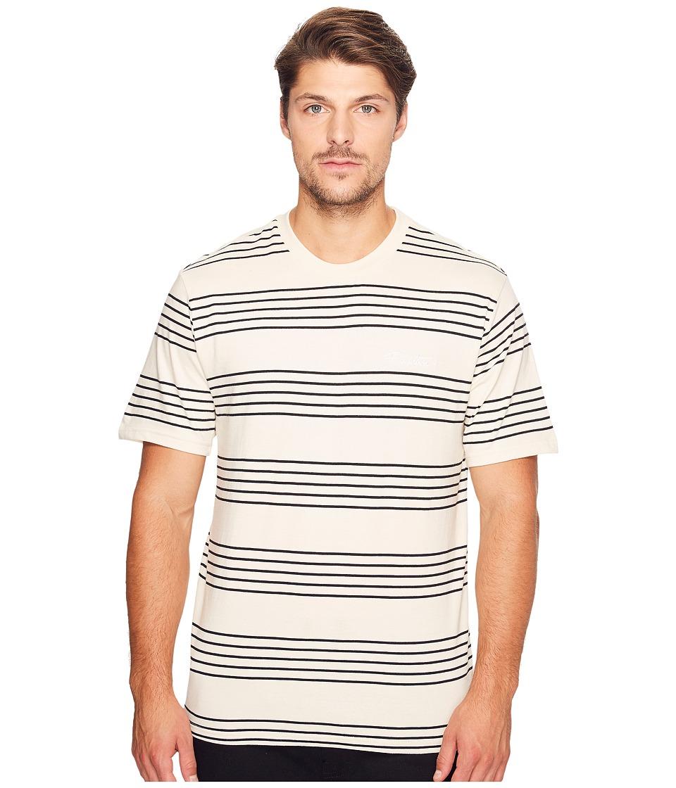 Primitive - Classic Stripe Short Sleeve Crew (Ecru) Men's Clothing