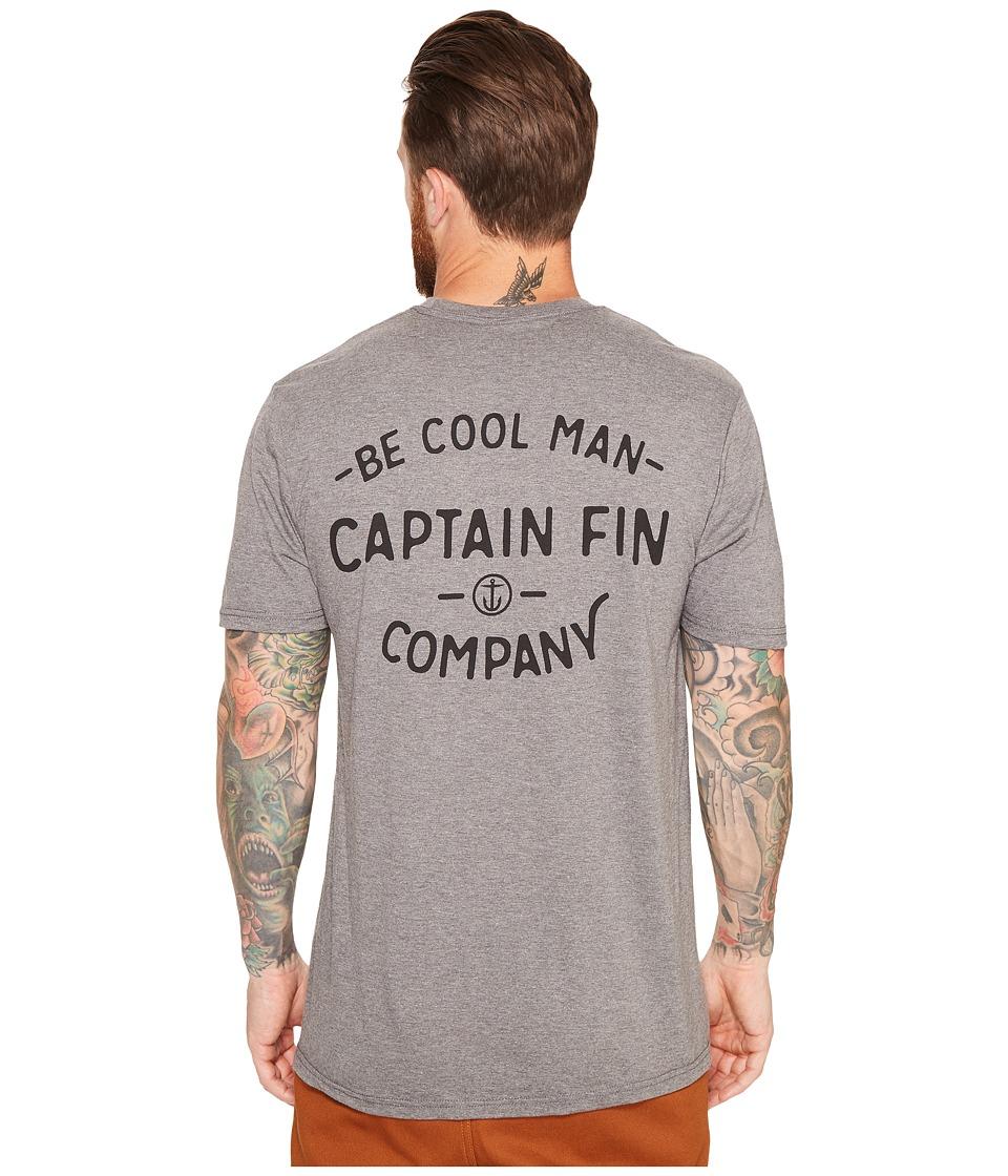 Captain Fin - Run of The Mill T-Shirt (Heather Grey) Men's T Shirt
