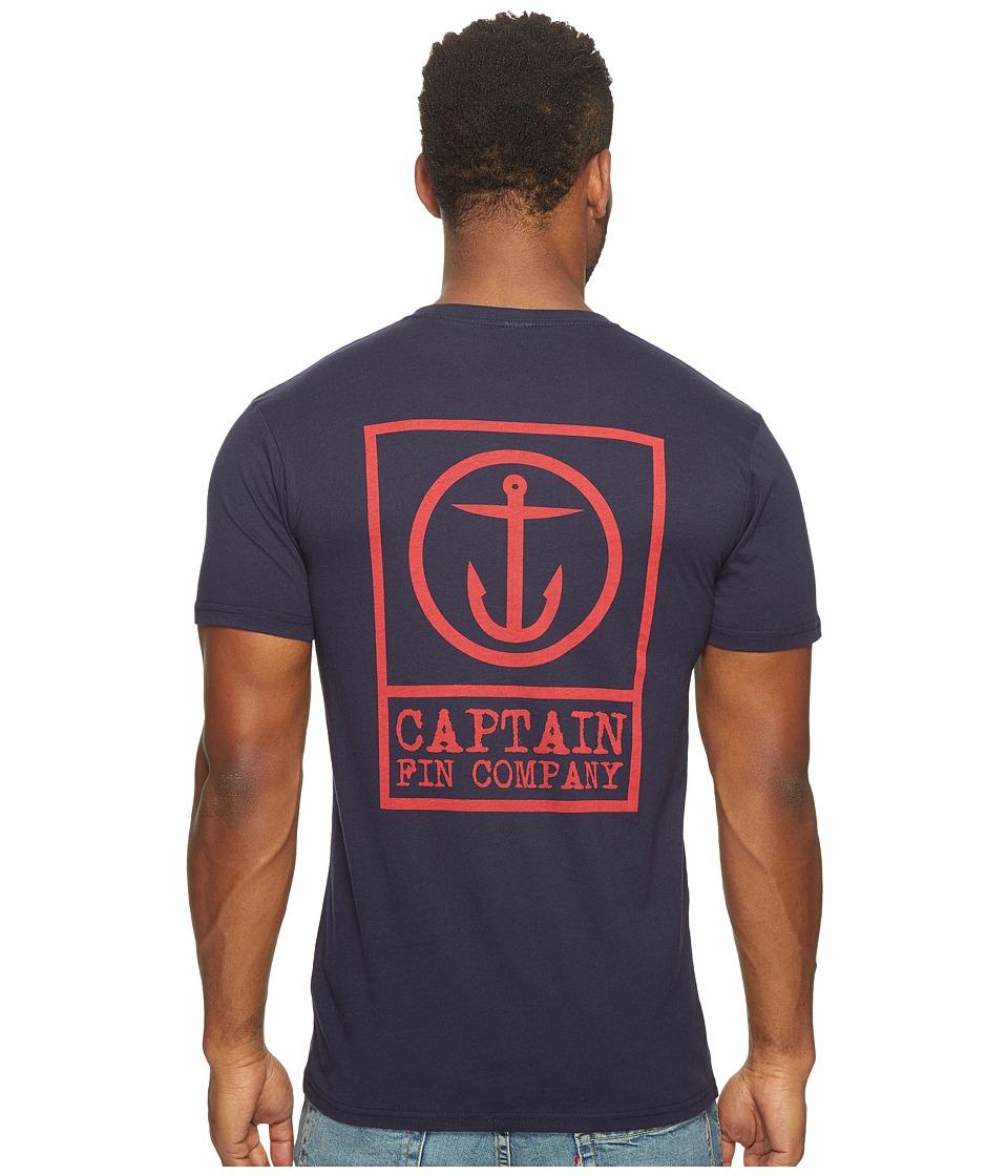 Captain Fin - Boxed Out II T-Shirt (Navy) Men's T Shirt