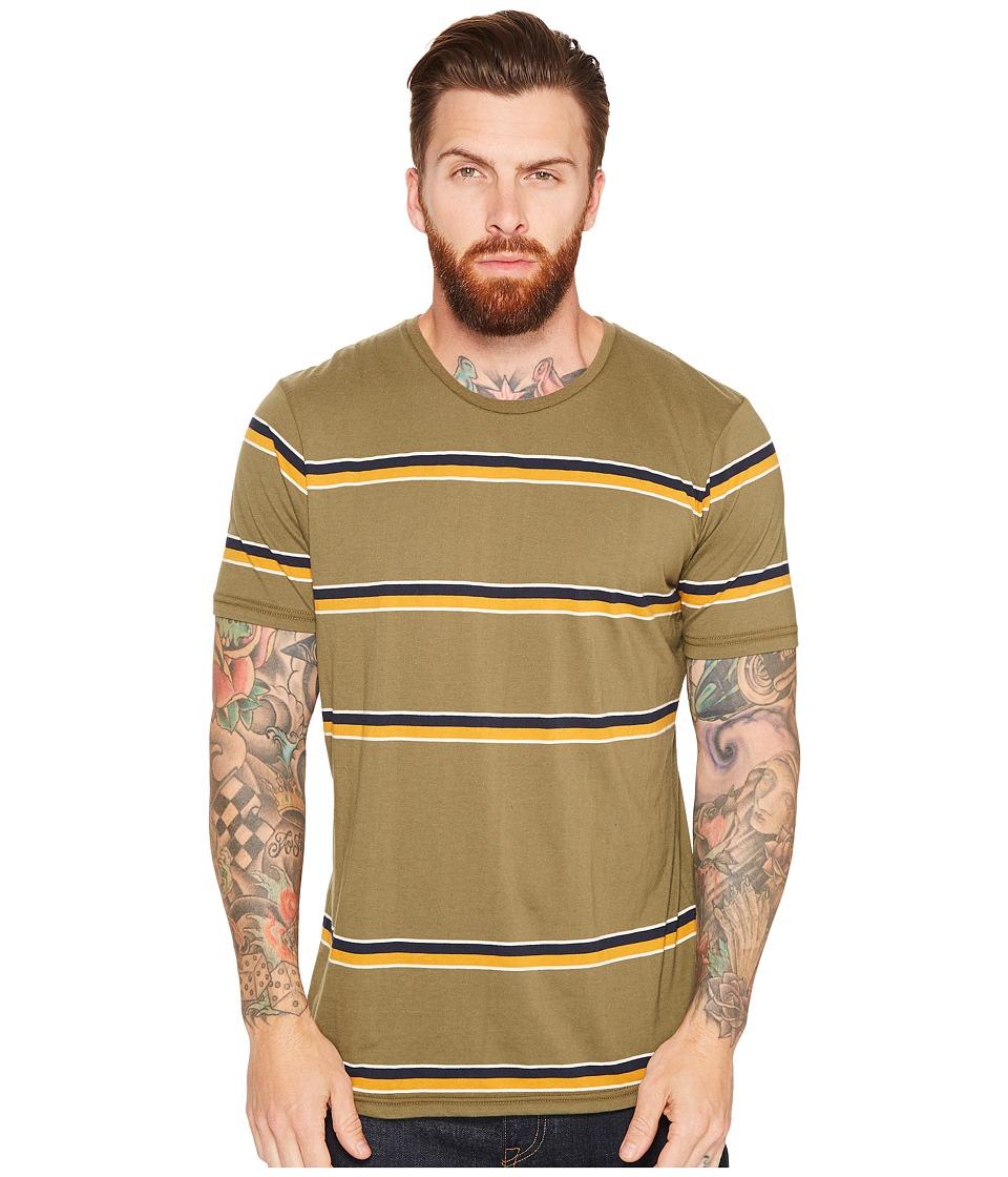 Captain Fin - Sammy Short Sleeve Knit (Olive) Men's Clothing