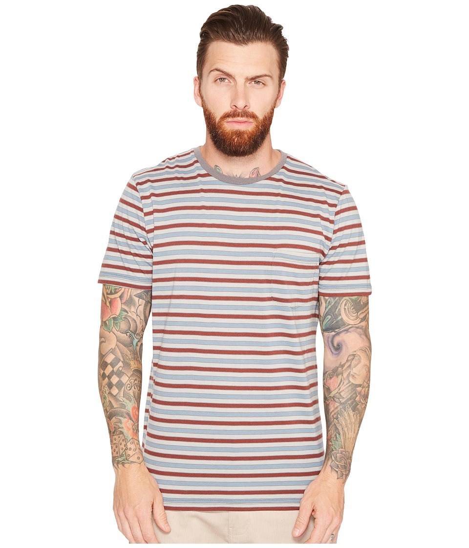 Captain Fin - Lewis Short Sleeve Knit (Grey) Men's Clothing
