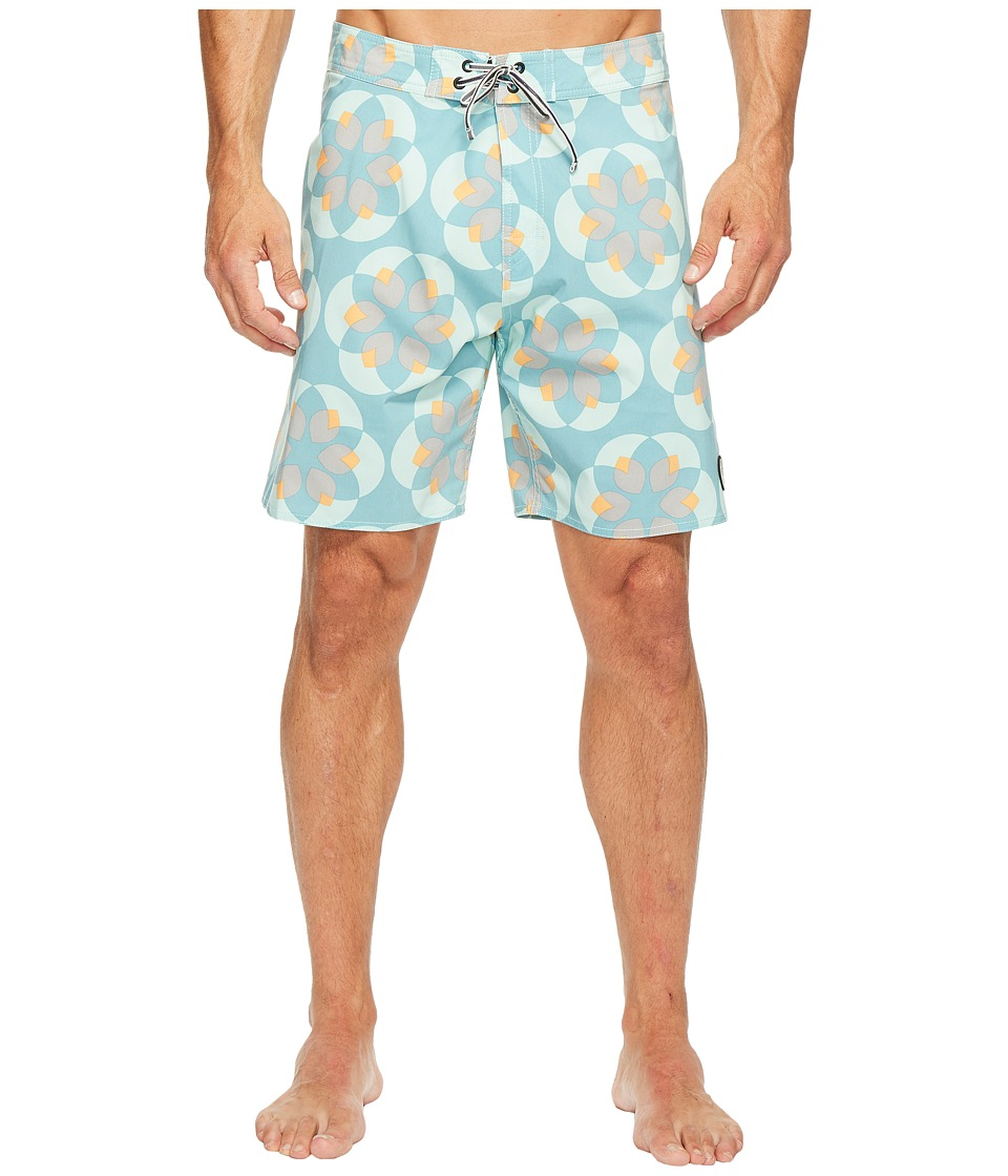 Captain Fin Lotuscope Boardshorts (Aqua) Men