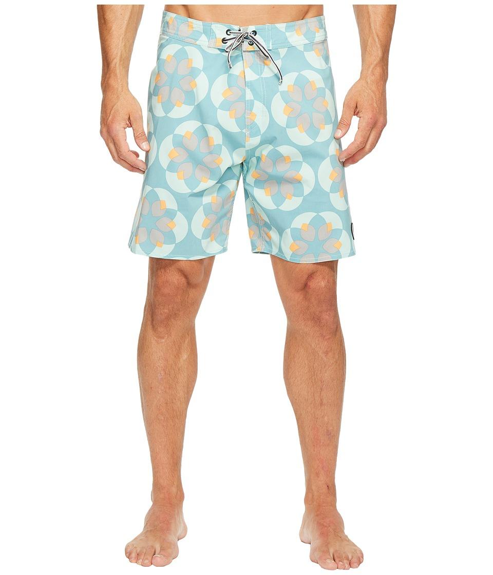 Captain Fin - Lotuscope Boardshorts (Aqua) Men's Swimwear