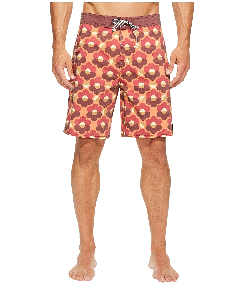 Captain Fin - Goldfinger Boardshort (Red) Men's Swimwear