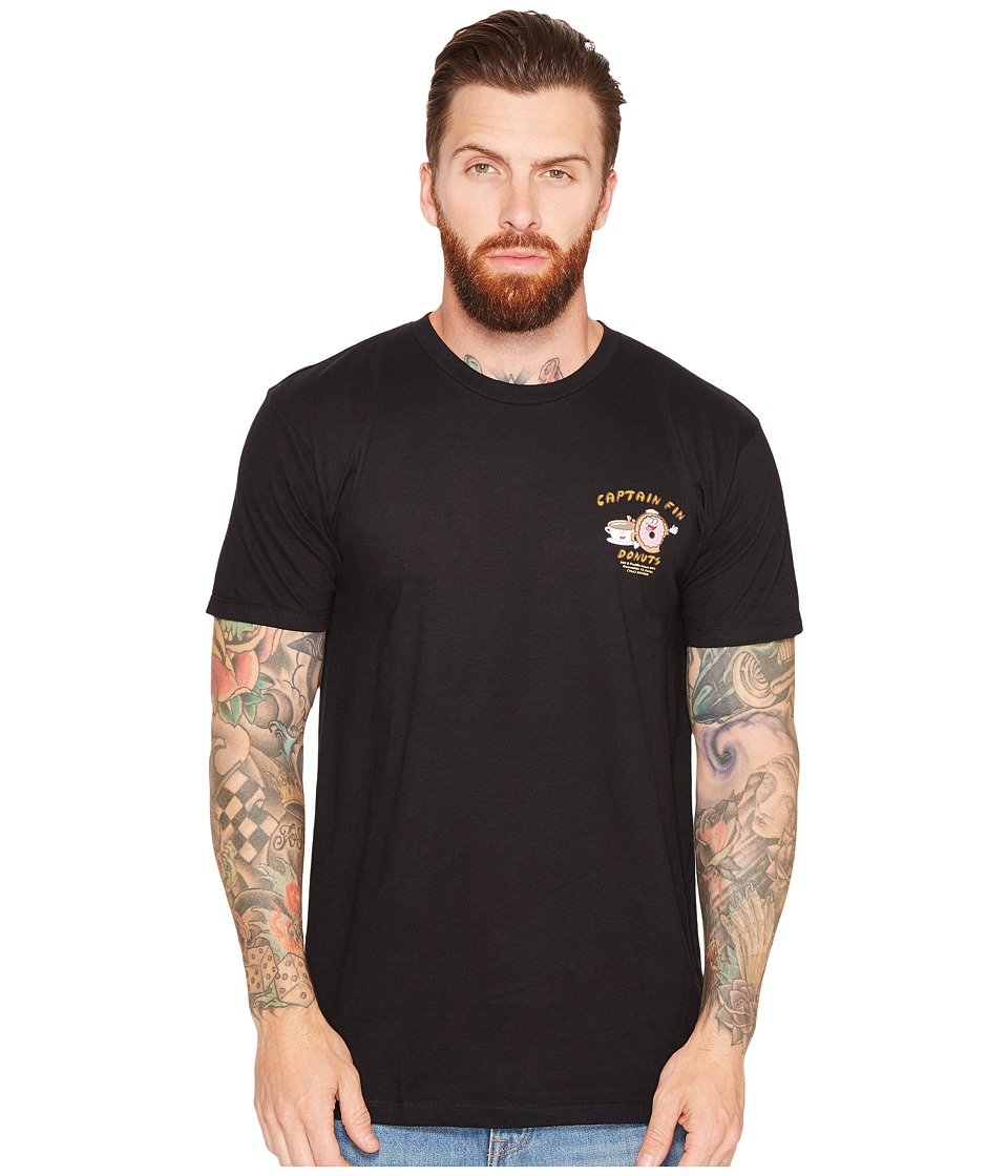 Captain Fin - Donut Shop Tee (Black) Men's T Shirt