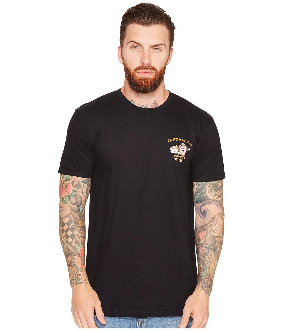 Captain Fin - Donut Shop Tee (Black) Men's T Shirt