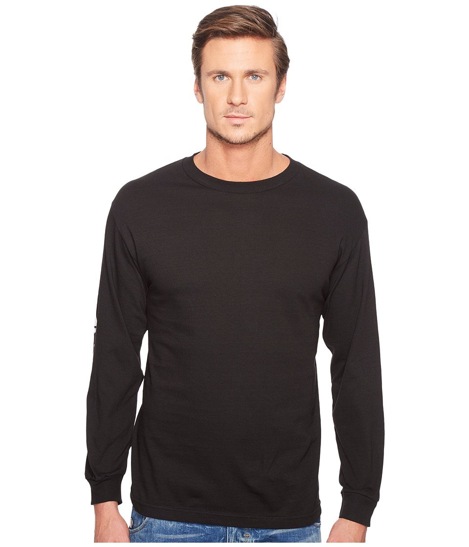 Captain Fin - Sharky Sleeves Long Sleeve Tee (Black) Men's T Shirt