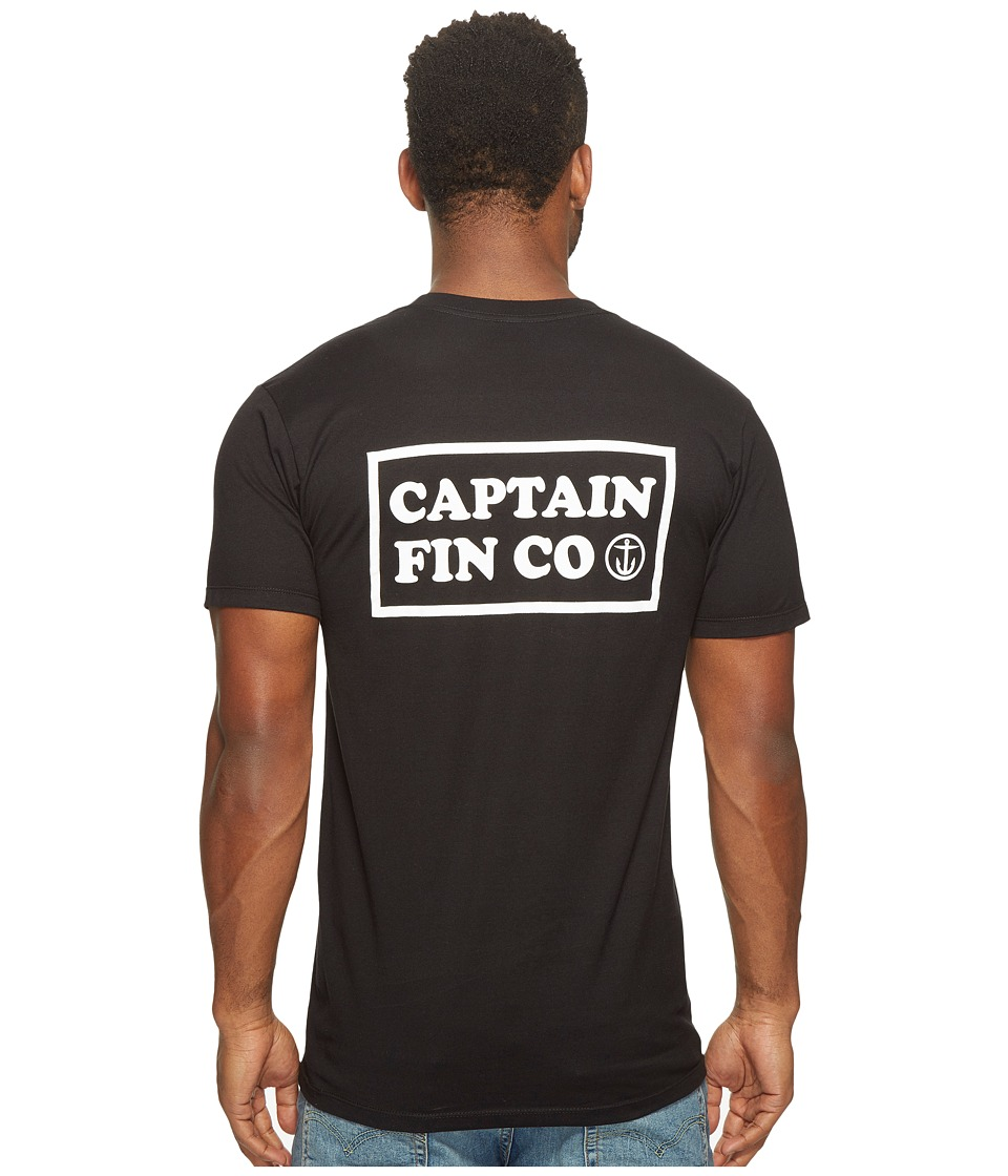 Captain Fin - New Wave Pocket Tee (Black/White) Men's T Shirt