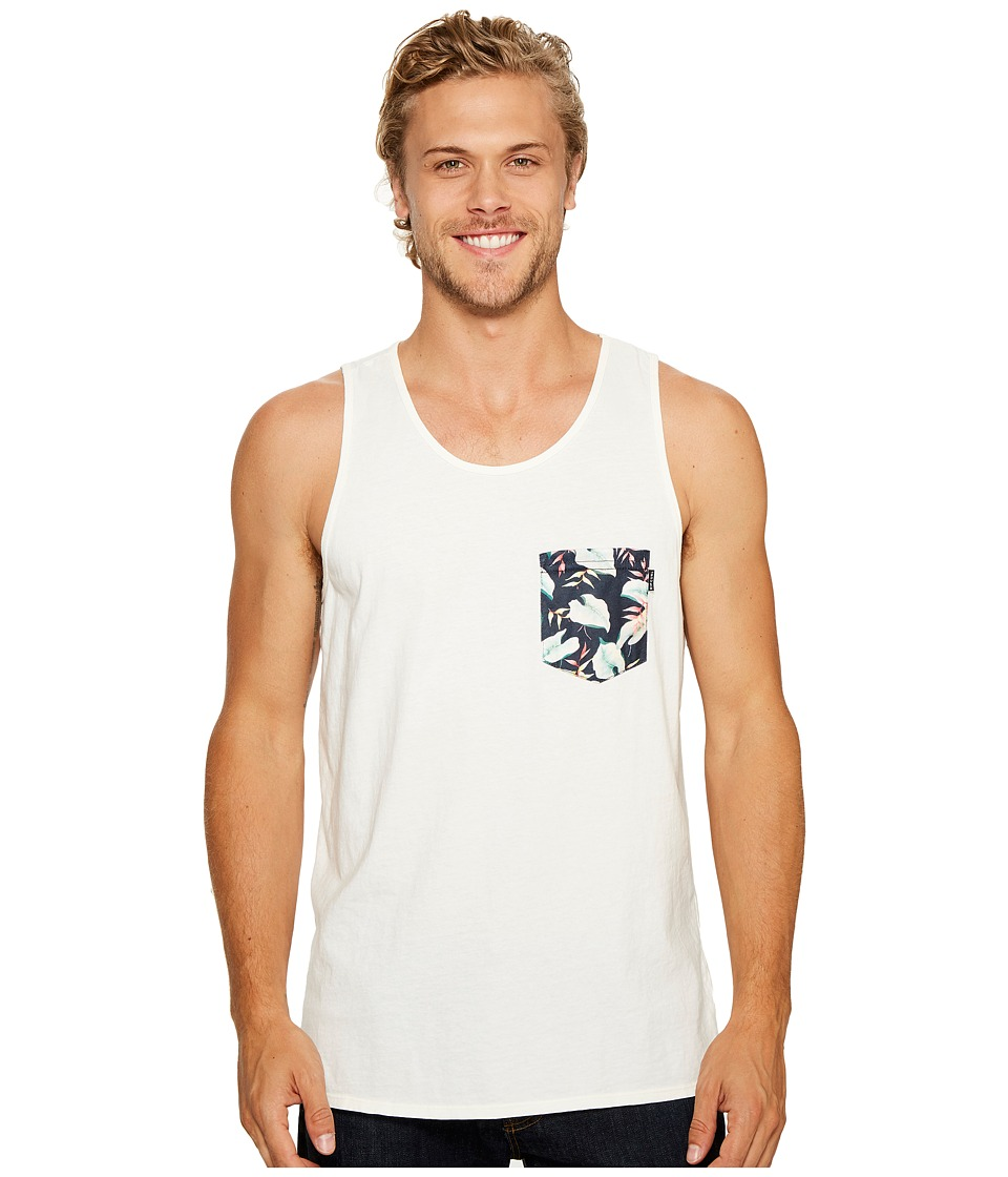 Rip Curl - Salut Custom Pocket Tank Top (White) Men's Sleeveless