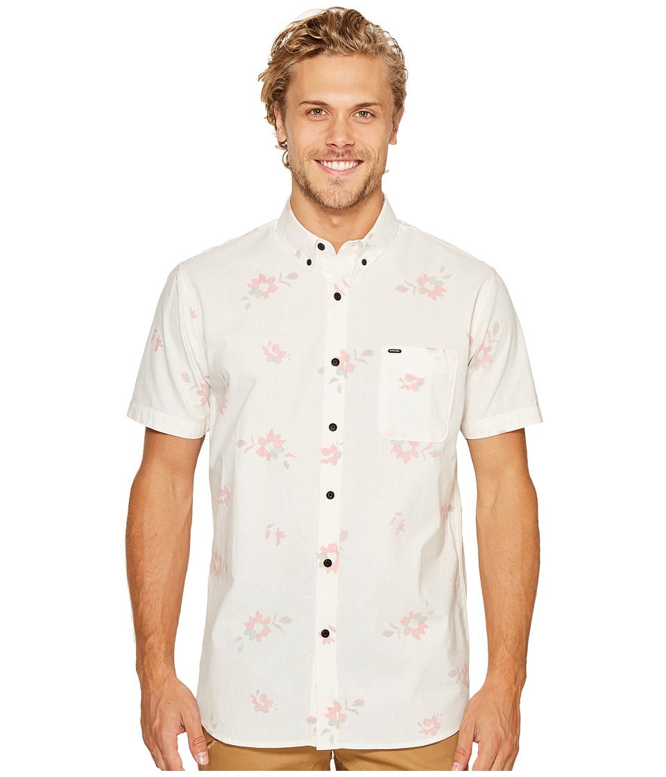 Rip Curl - Dab Short Sleeve Shirt (Off-White) Men's Clothing