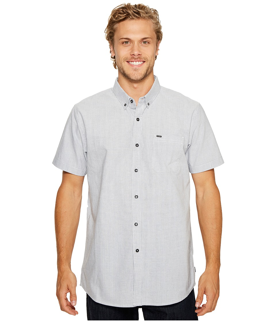 Rip Curl - Ourtime Short Sleeve Shirt (White/Blue) Men's Clothing