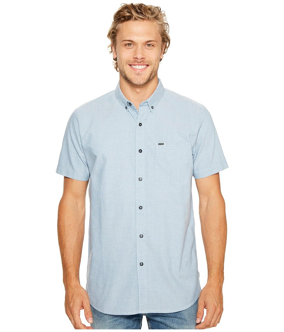 Rip Curl - Ourtime Short Sleeve Shirt (Blue) Men's Clothing