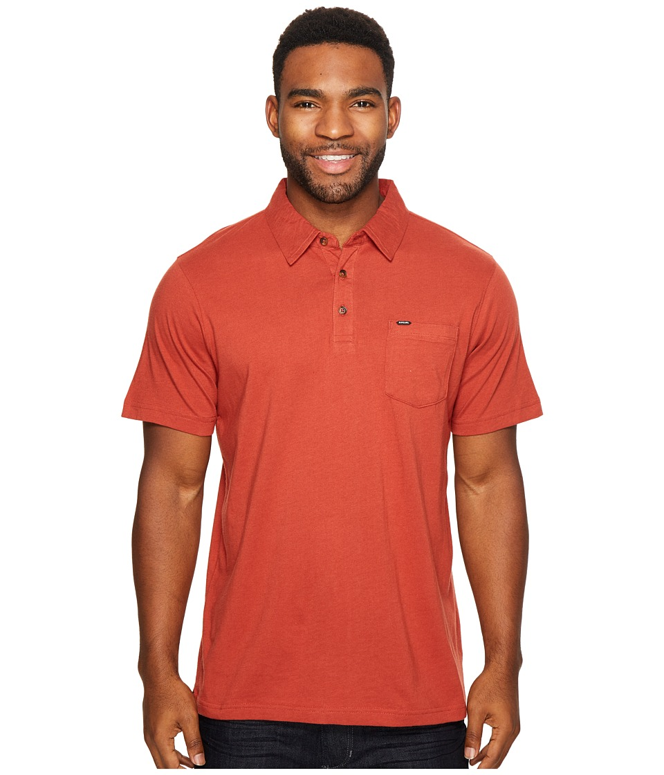 Rip Curl - Links Polo (Dark Red) Men's Clothing