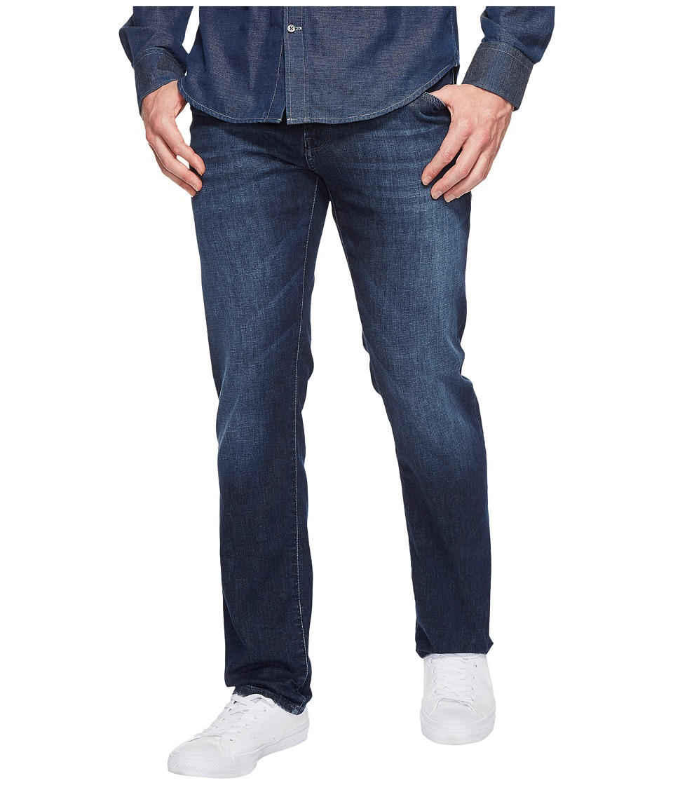 Mavi Jeans Zach Regular Rise Straight Leg in Dark Summer Denim (Dark Summer Denim) Men