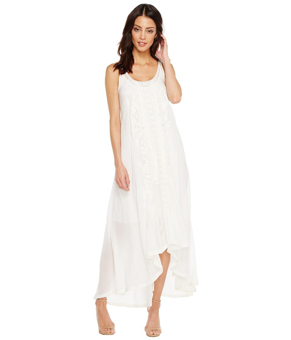 Johnny Was Mattel Dress-Slip White Dress