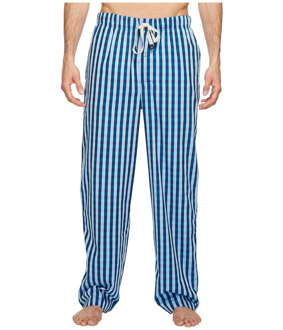Original Penguin - Woven Pants (Blue Bell Safari Gingham) Men's Pajama
