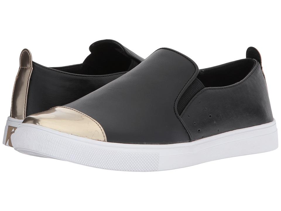 SKECHERS Street - Moda (Black/Gold) Women's Slip on Shoes
