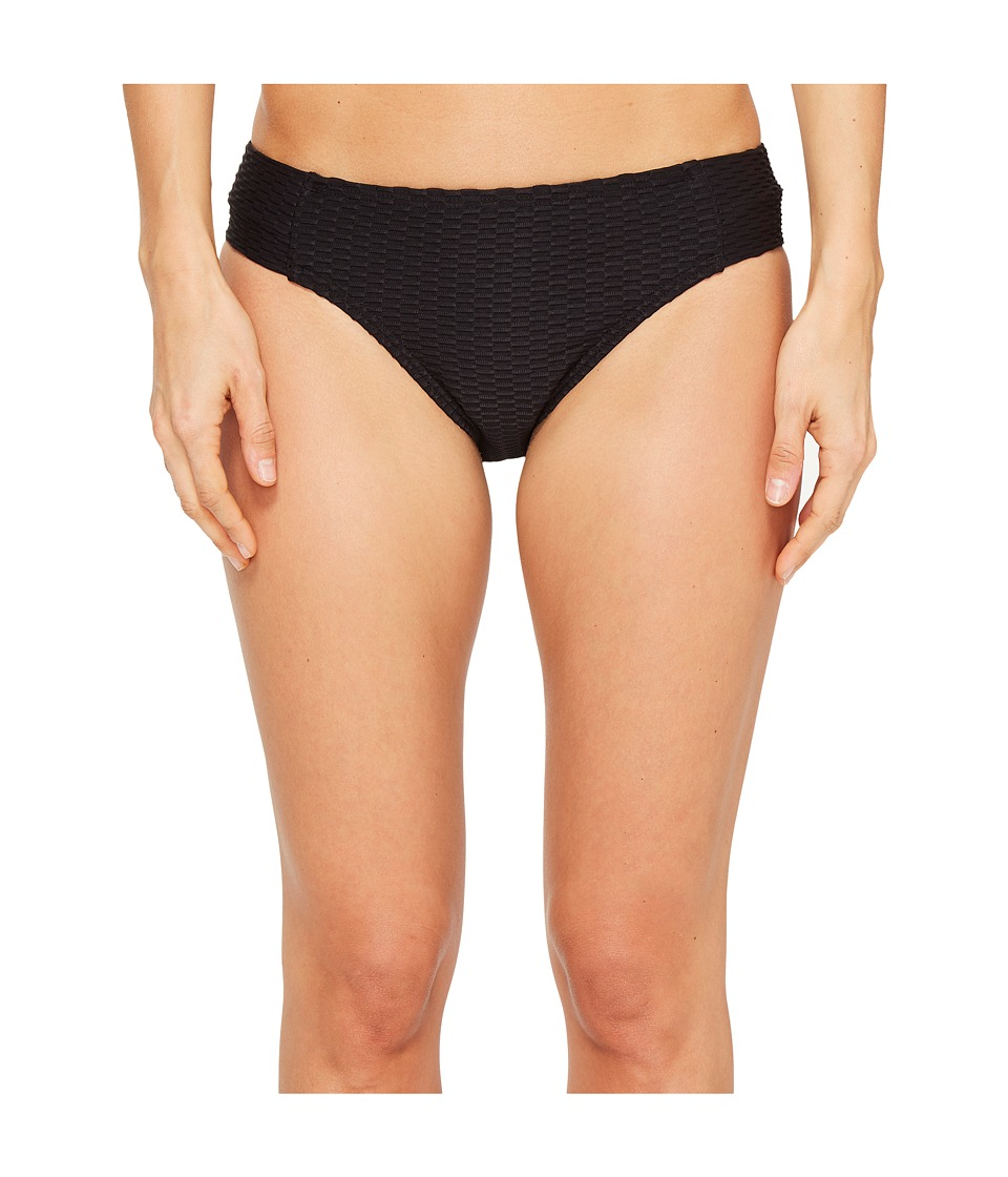 Kenneth Cole - Shanghai Solids Tab Bikini Bottom (Black) Women's Swimwear