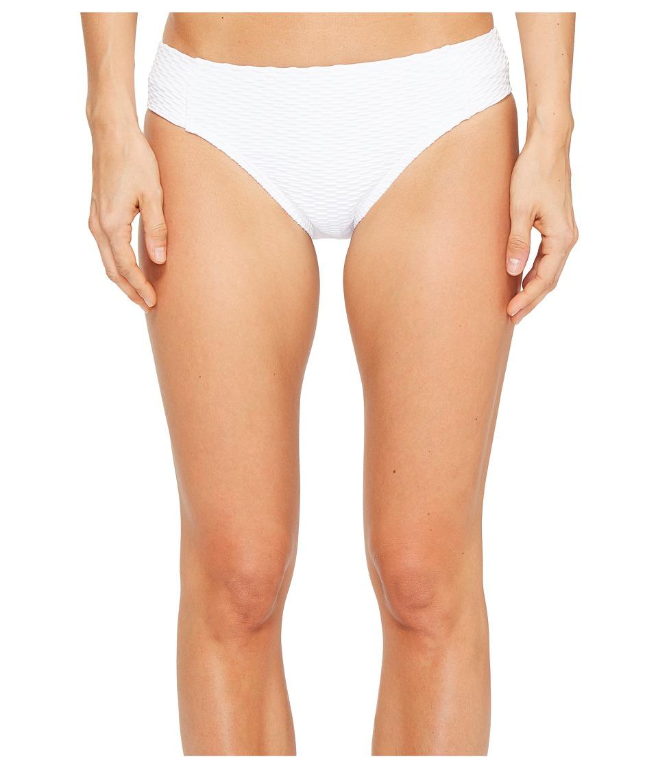 Kenneth Cole - Shanghai Solids Tab Bikini Bottom (White) Women's Swimwear